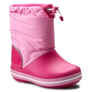Cizme de zăpadă CROCS - Crocband Lodgepoint Boot K 203509 Candy Pink/Party Pink