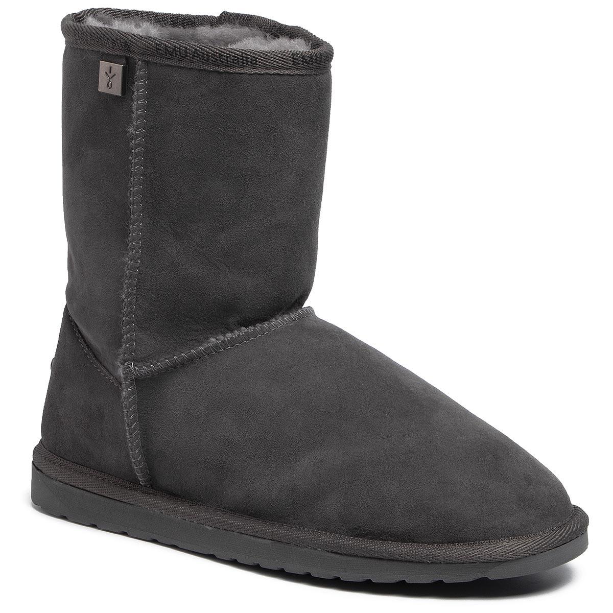 Pantofi EMU AUSTRALIA - Platinum Stinger Slim Lo WP20002 Charcoal