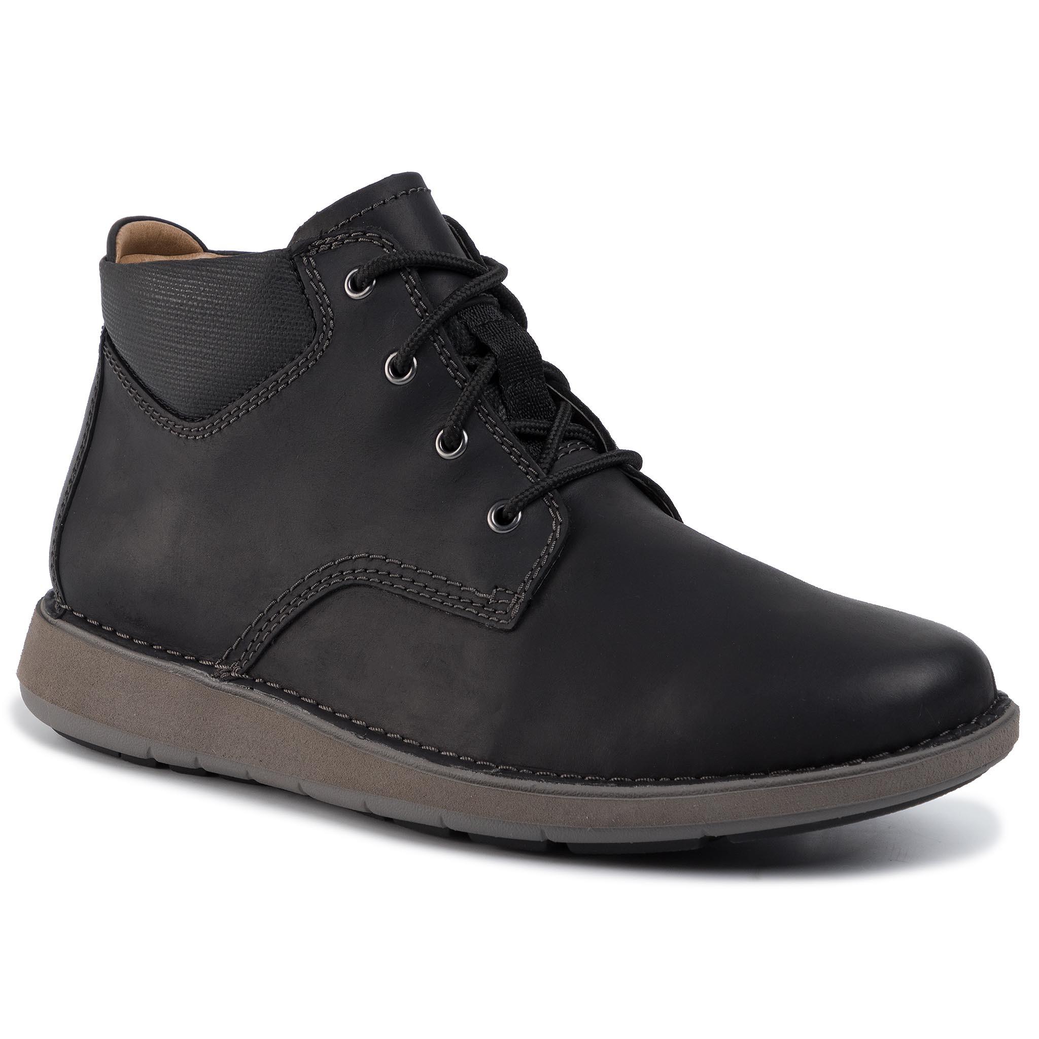 Ghete CLARKS - Un Larvik Top 261446037 Black Leather