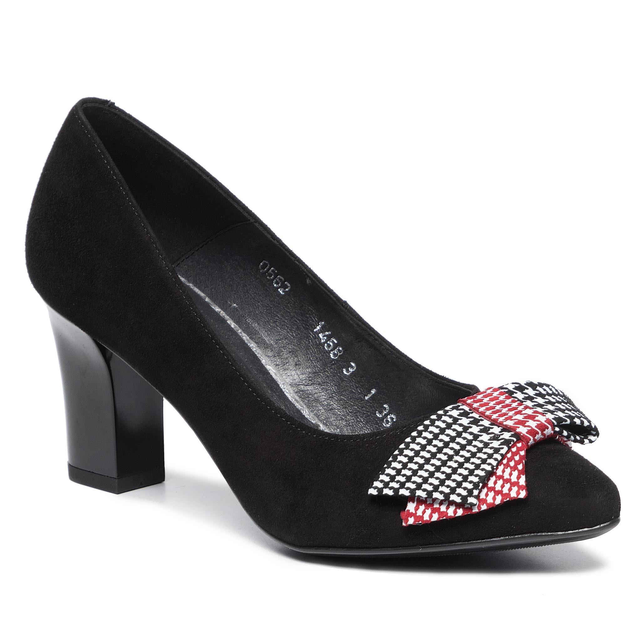 Pantofi ANN MEX - 0562 01W+14KR+01KR Negru