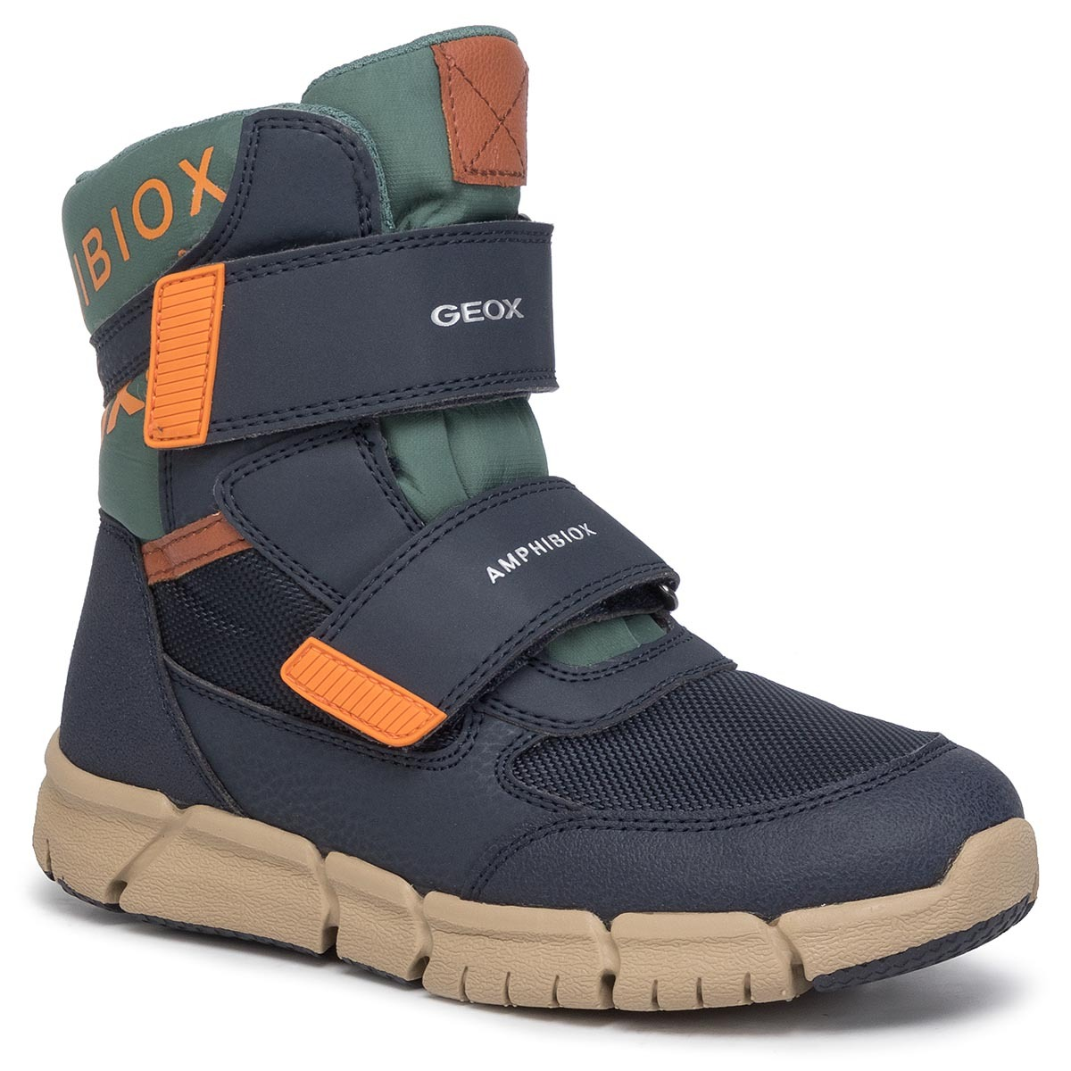 Cizme de zăpadă GEOX - J Flexyper B Abx B J949XB 0FUCE C0659 S Navy/Orange