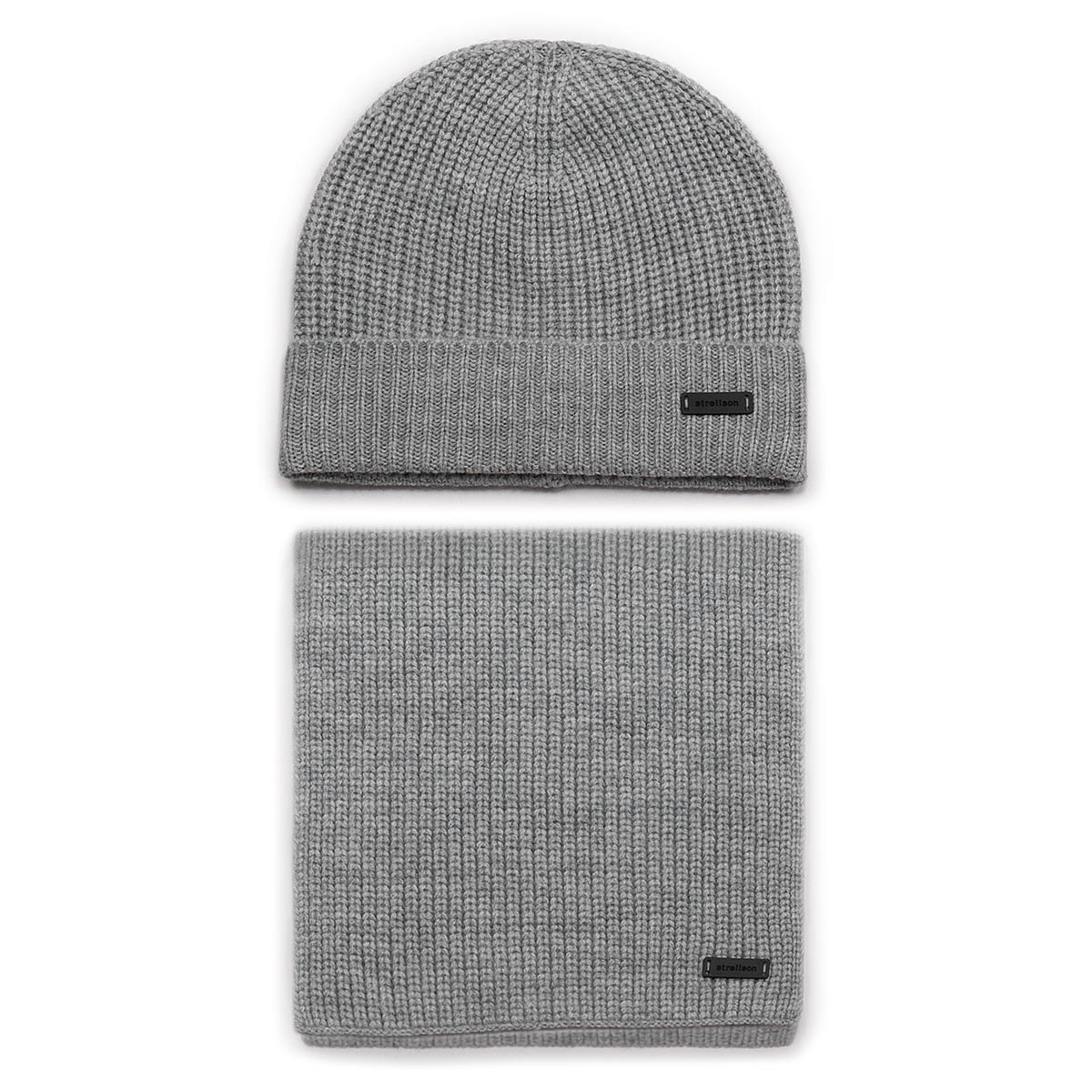 Set Fular și Căciulă STRELLSON - Lenny02 30017662 Medium Grey 030