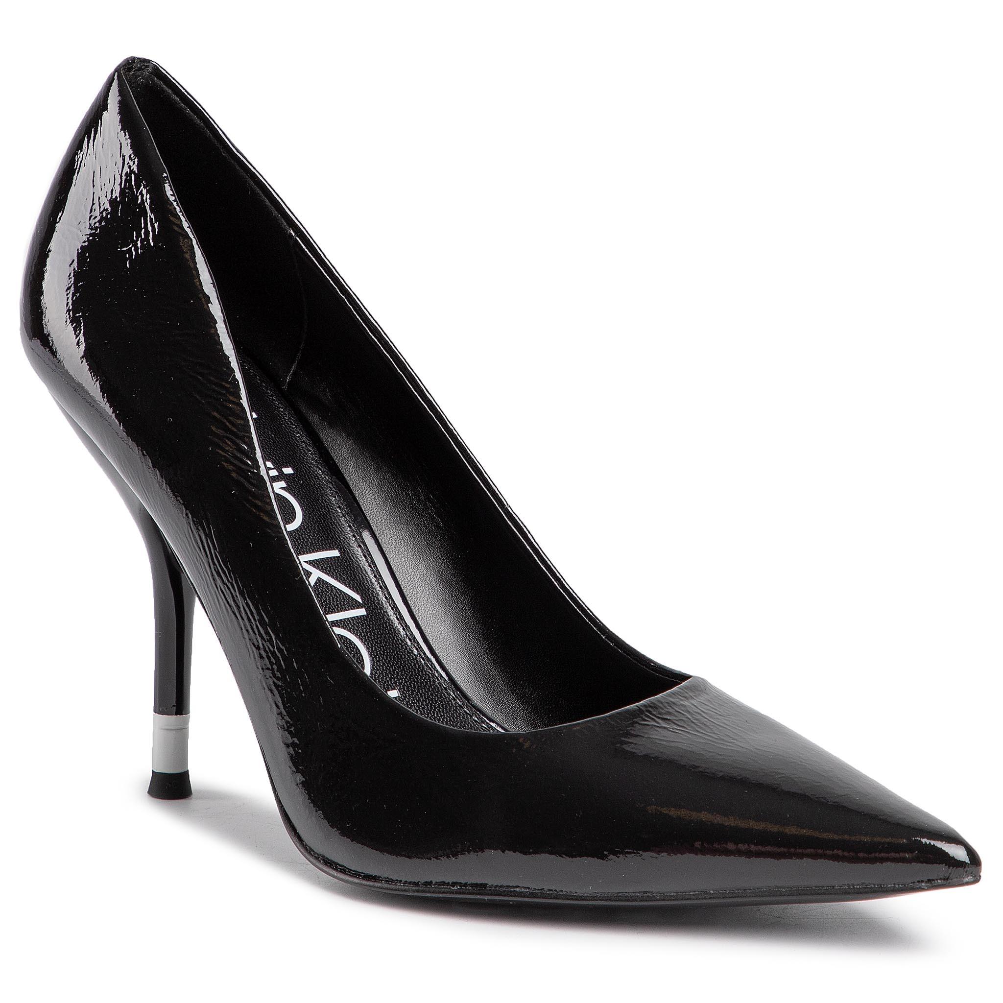Pantofi cu toc subțire CALVIN KLEIN - Aliyah B4E6228 Black