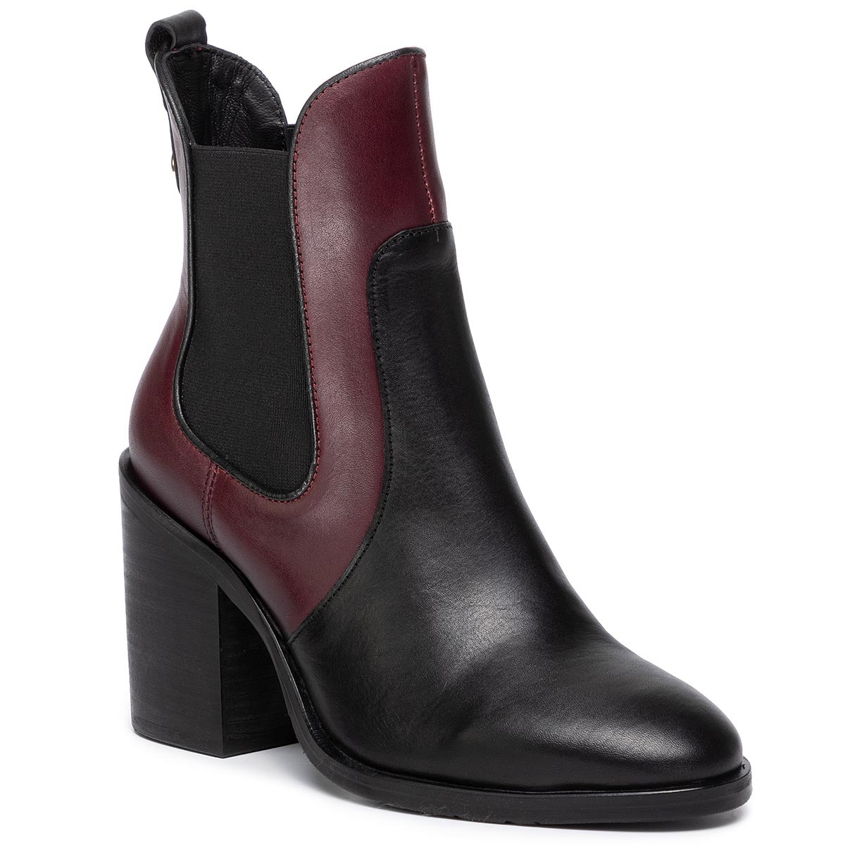 Botine TOMMY HILFIGER - Color Block Chelsea FW0FW04495 Chocolate Truffle GBY