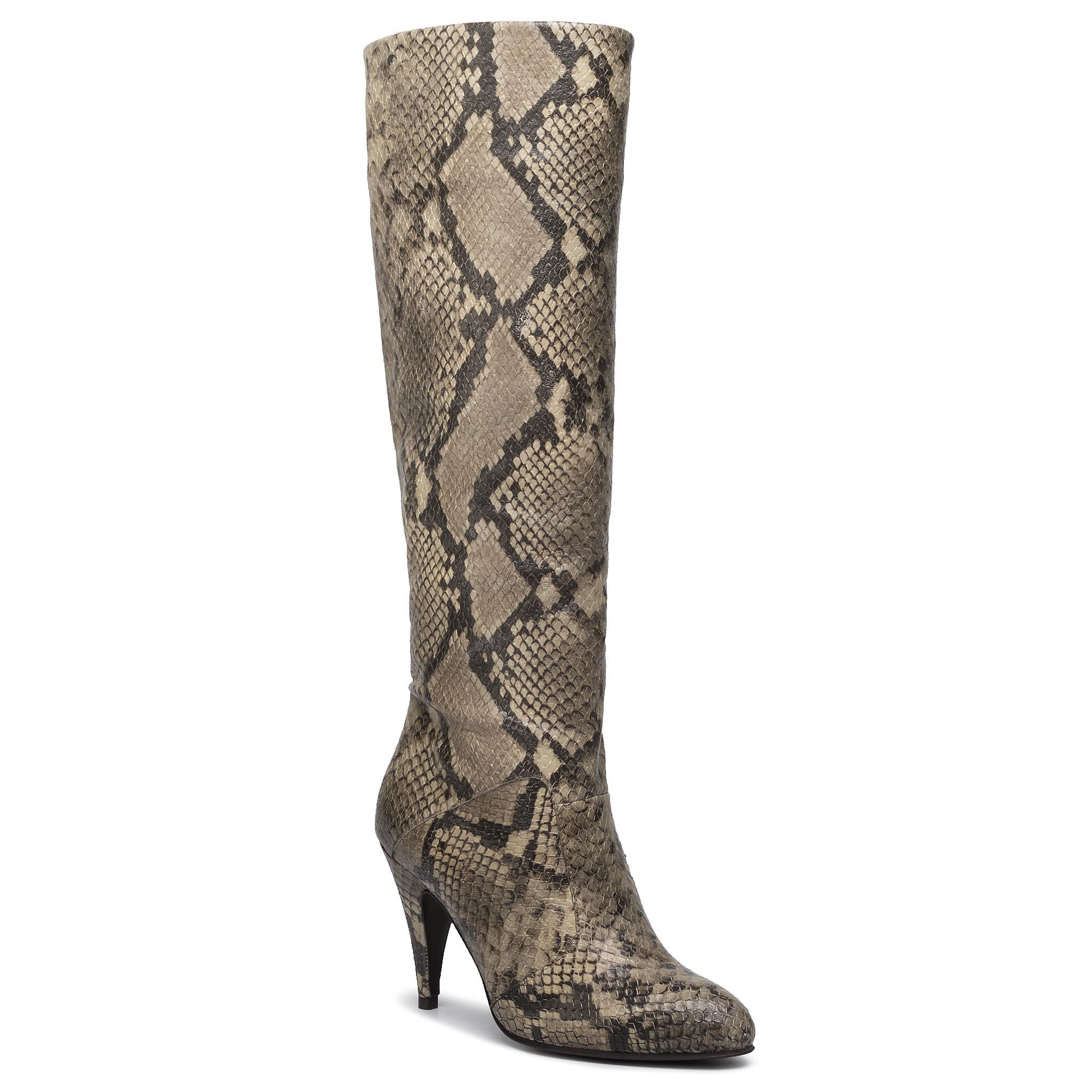 Cizme TOMMY HILFIGER - Zendaya Snake Print Boot FW0FW04565 Snake Skin 0HG