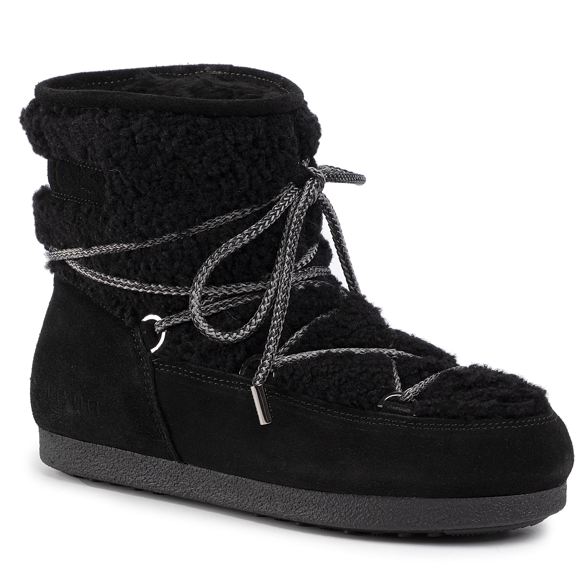 Cizme de zăpadă MOON BOOT - Far Side Low Shearl. 242008000003 Black