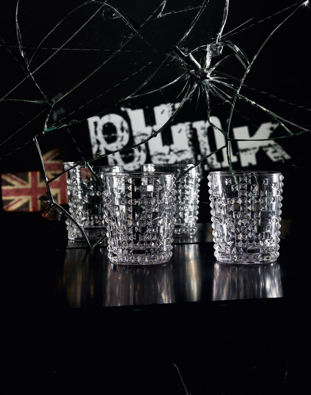 PUNK Set 4 pahare cristalin whisky 350 ml