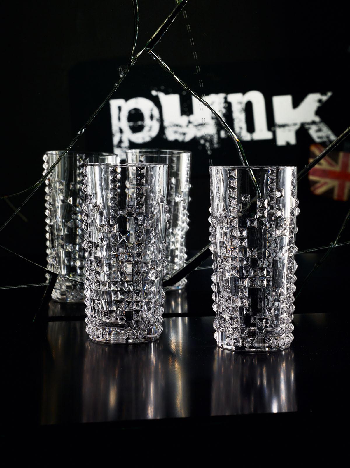 PUNK Set 4 pahare cristalin apa 390 ml