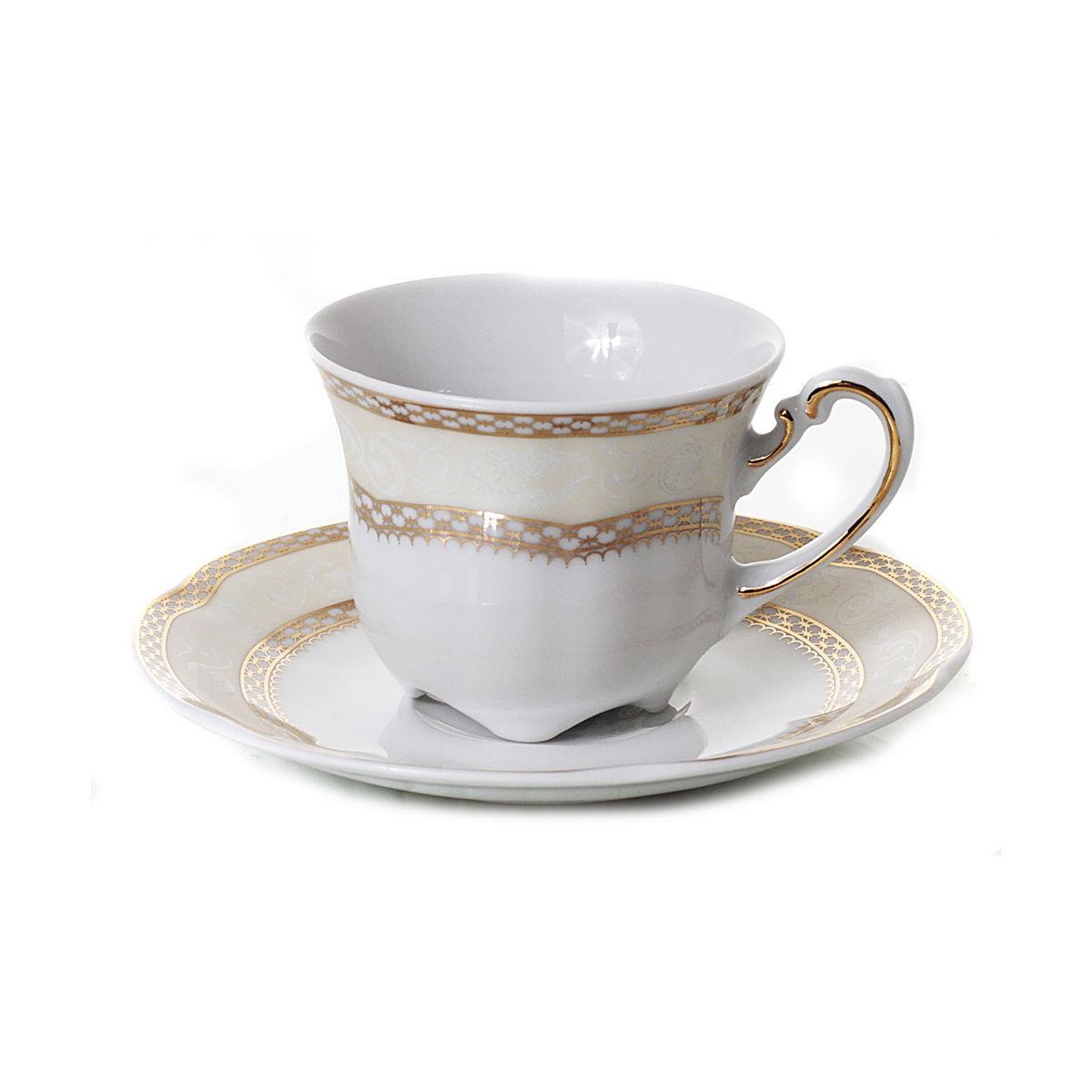 SOPHIA Serviciu cafea portelan 6 persoane 100 ml