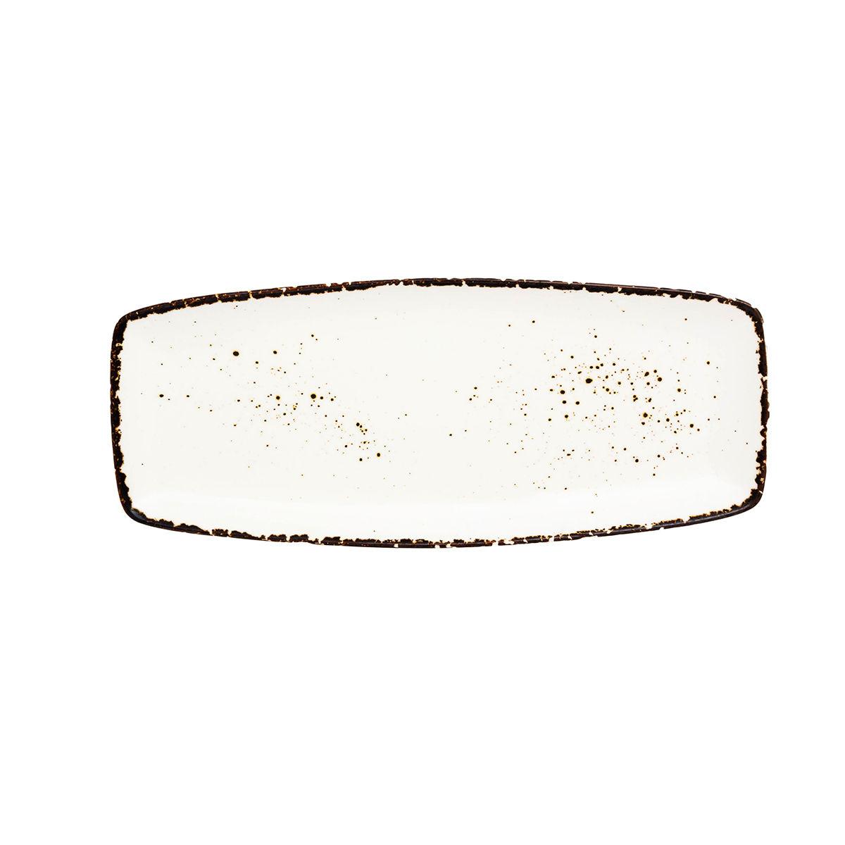 ANDALUZ Platou portelan rectangular crem 31.5*13*2 cm