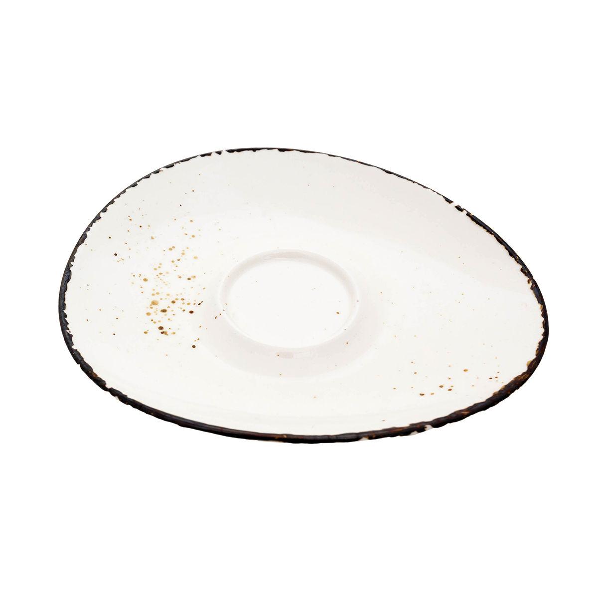 ANDALUZ Farfurioara portelan espresso crem 14.5 cm