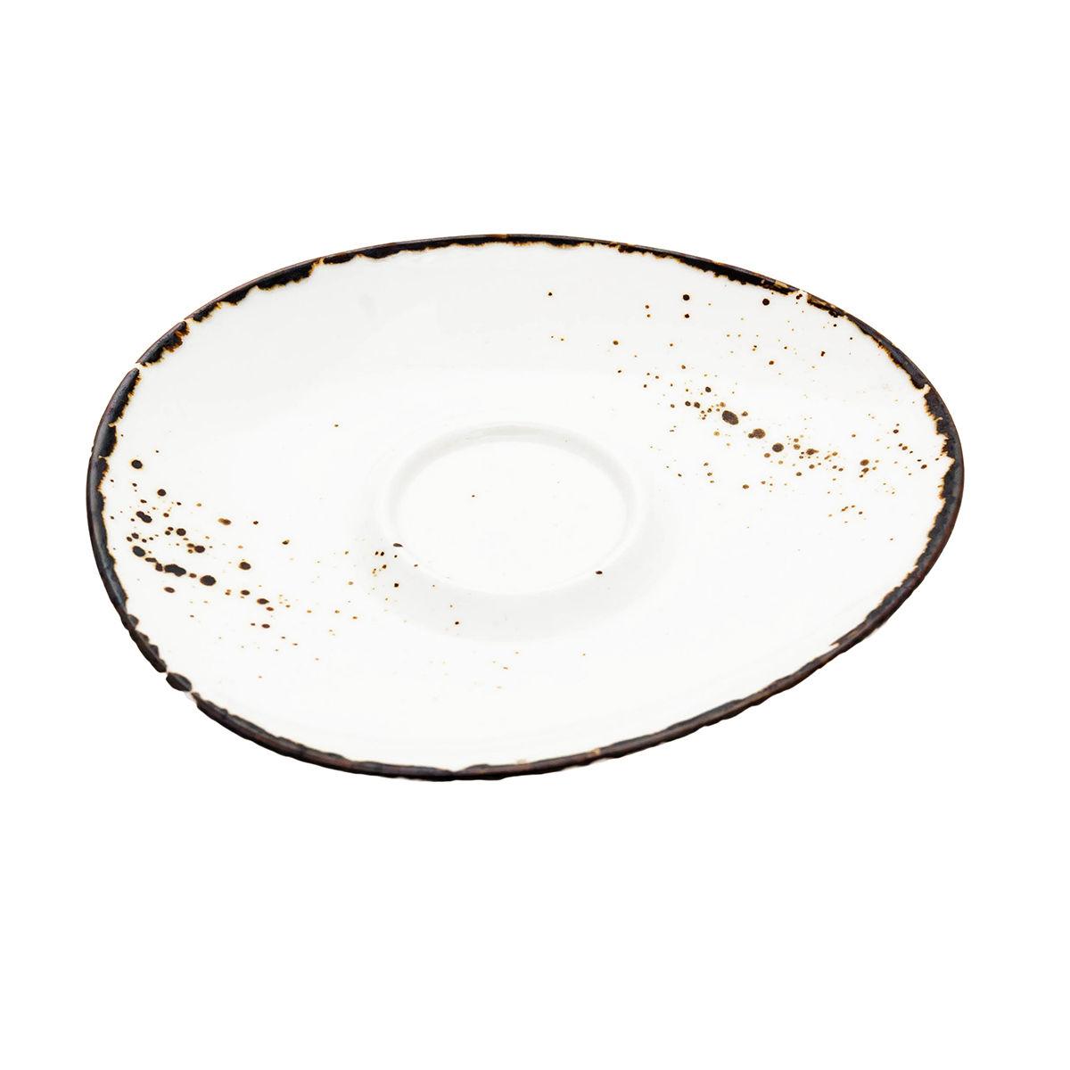 ANDALUZ Farfurioara portelan cafea crem 17.5 cm