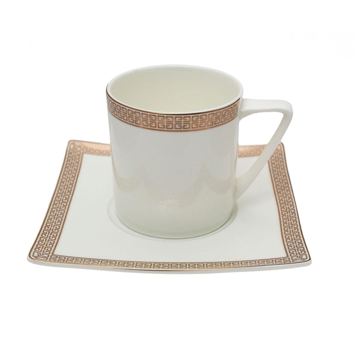 ELECTRA Serviciu ceai portelan 6 persoane 220 ml