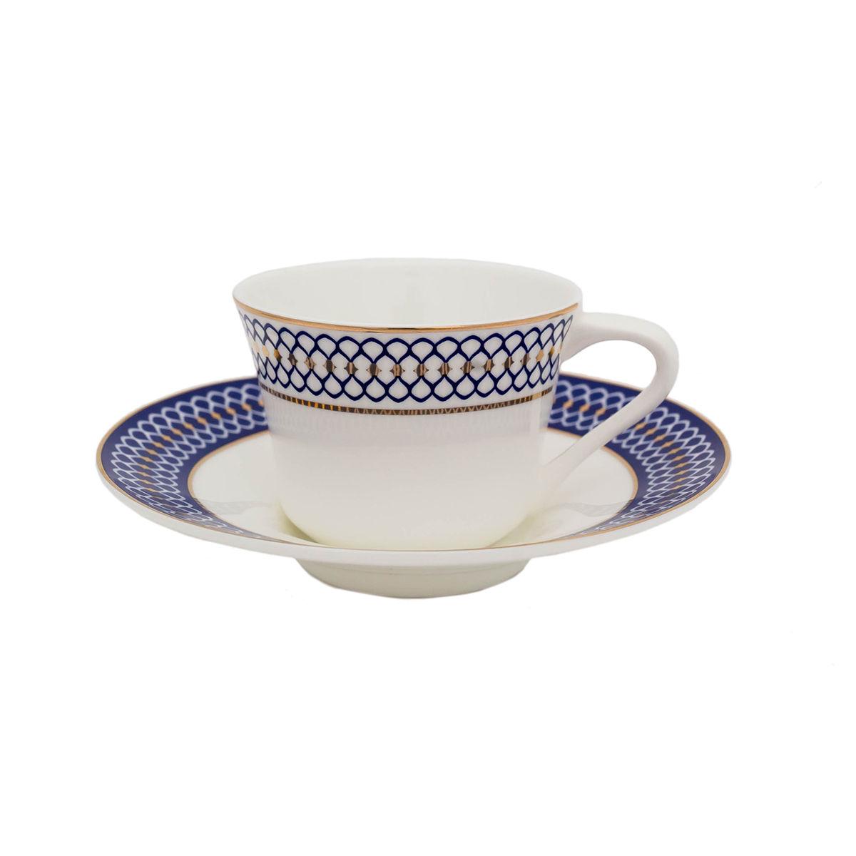 CALLIOPE Serviciu ceai portelan 6 persoane 220 ml