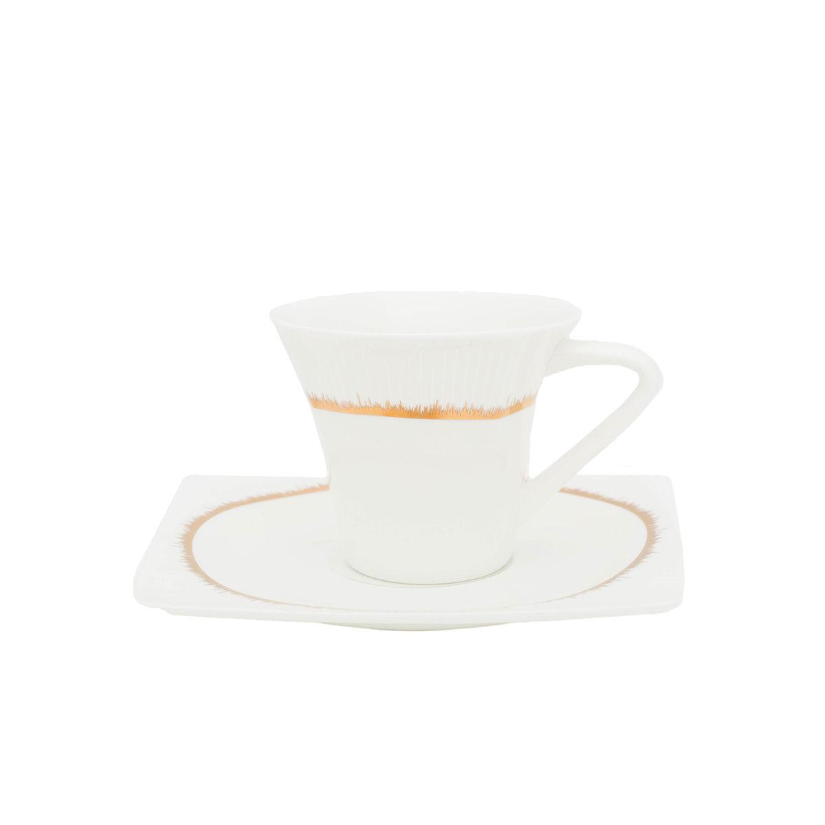 HELIOS Serviciu cafea portelan 6 persoane 100 ml
