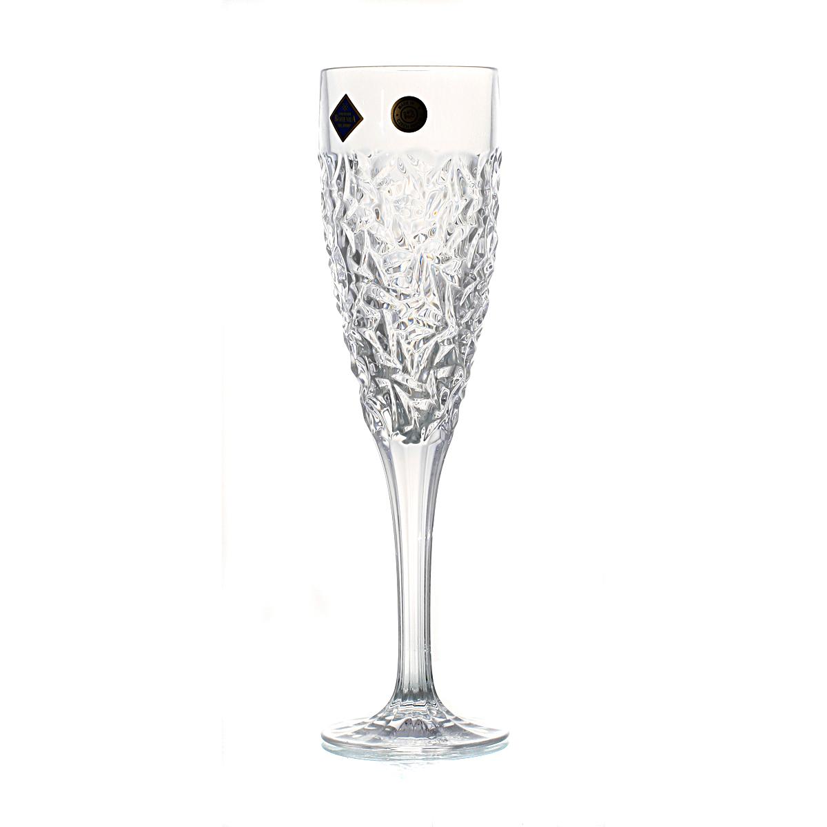 NICOLETTE Set 6 pahare cristal Bohemia sampanie 180 ml