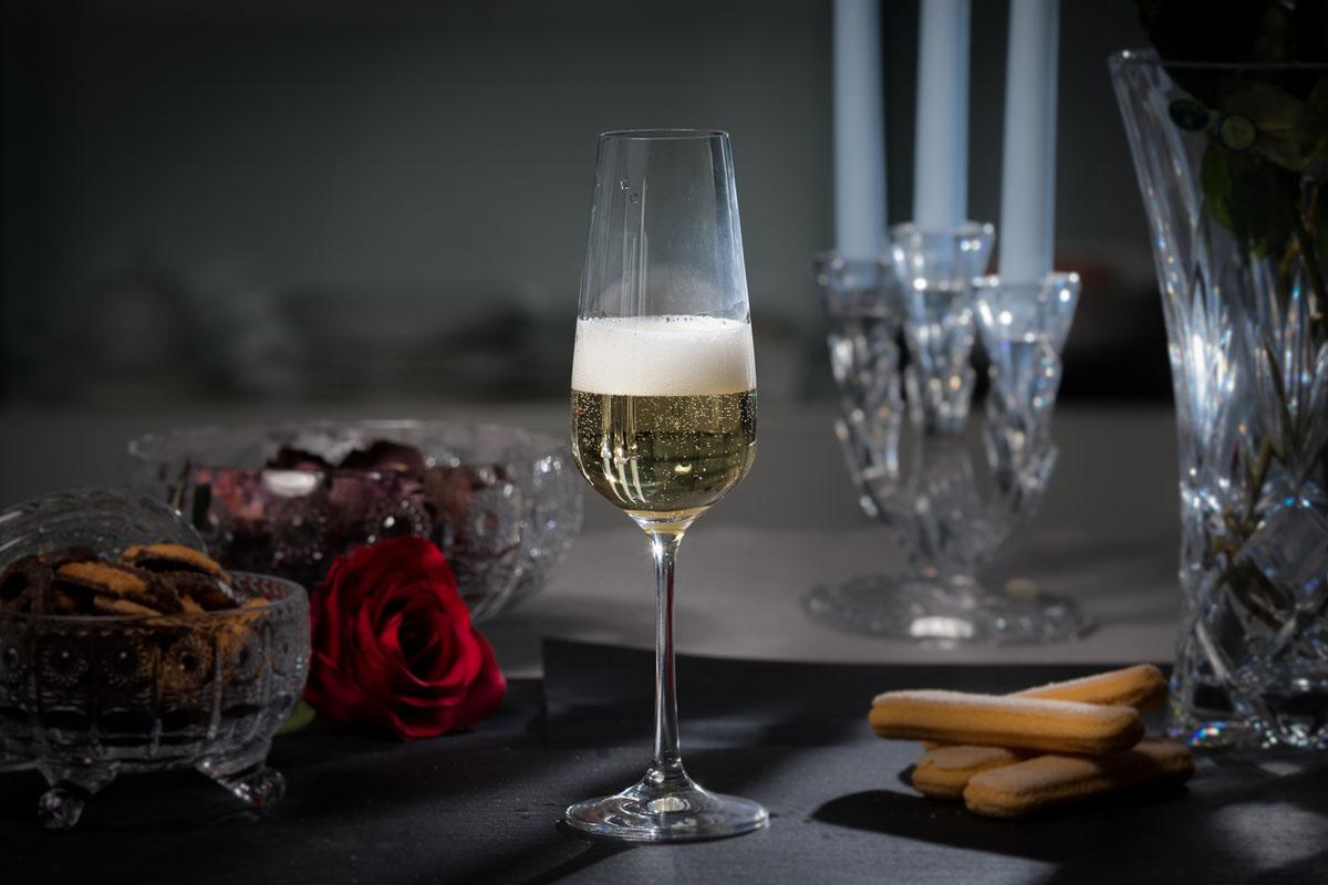 SANDRA Set 6 pahare cristalin sampanie 200 ml