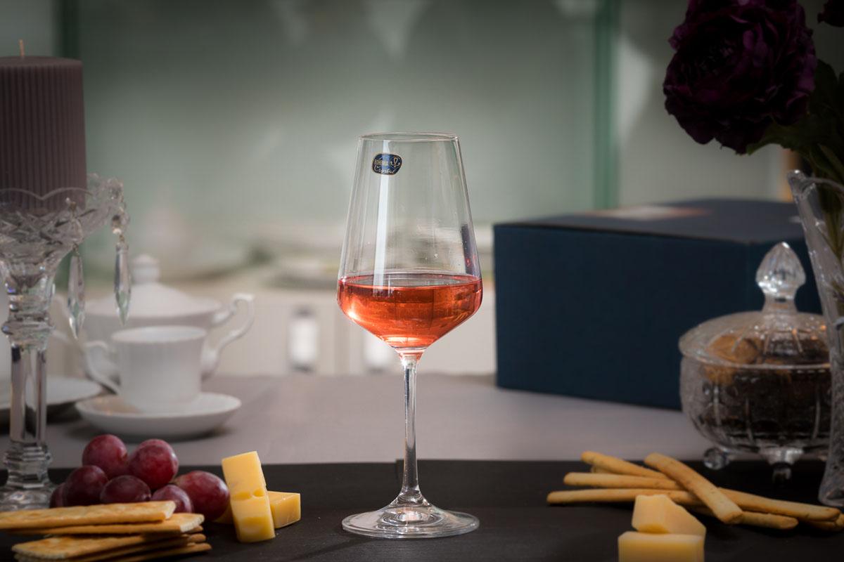 SANDRA Set 6 pahare cristalin vin 350 ml