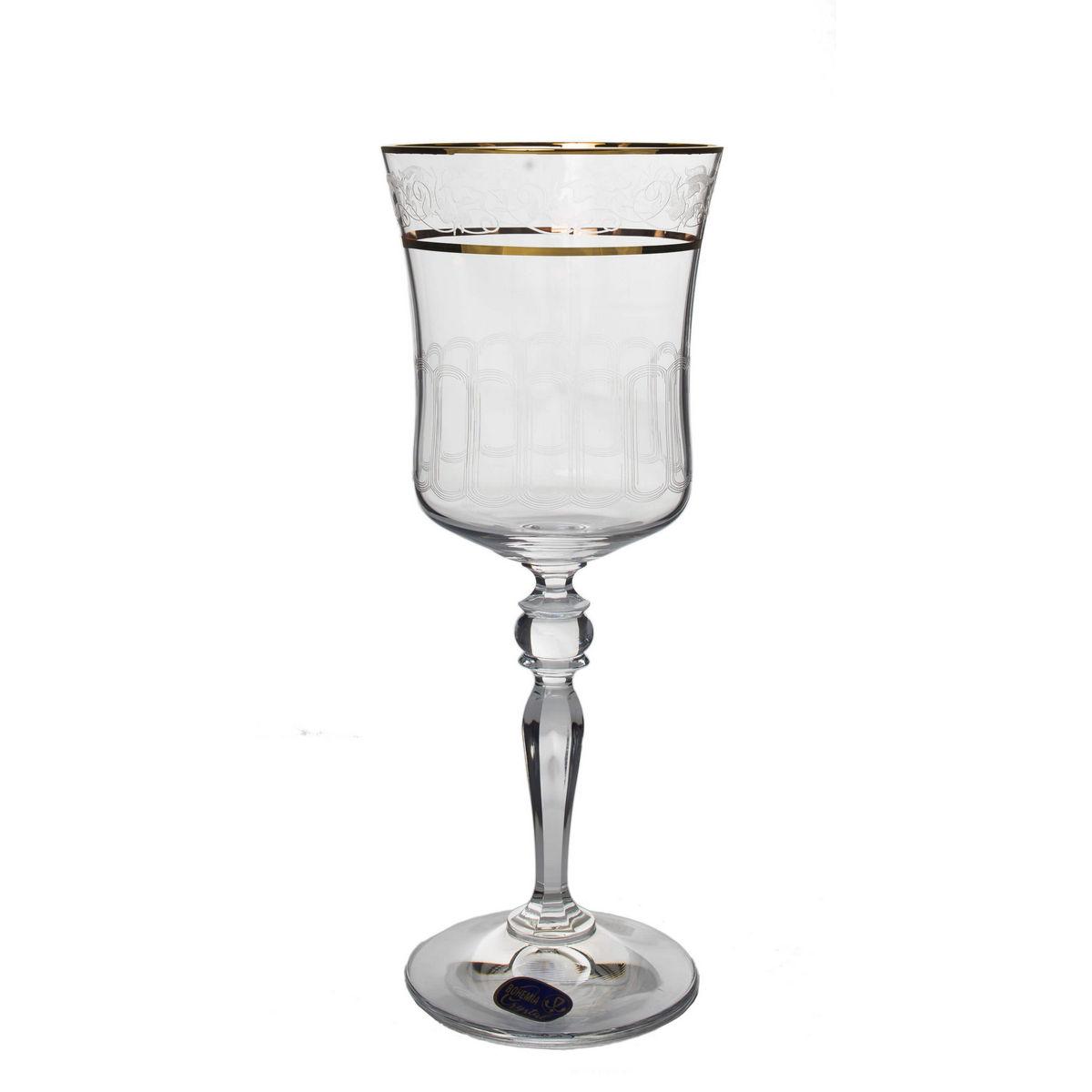 GRACE Set 6 pahare cristalin decor aur vin 300 ml