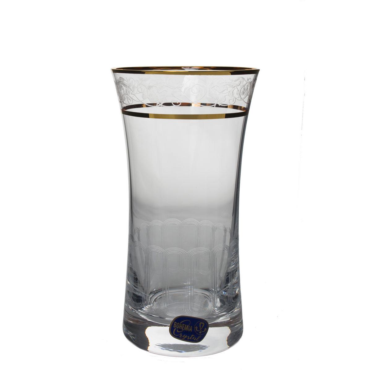 GRACE Set 6 pahare cristalin decor aur apa 340 ml