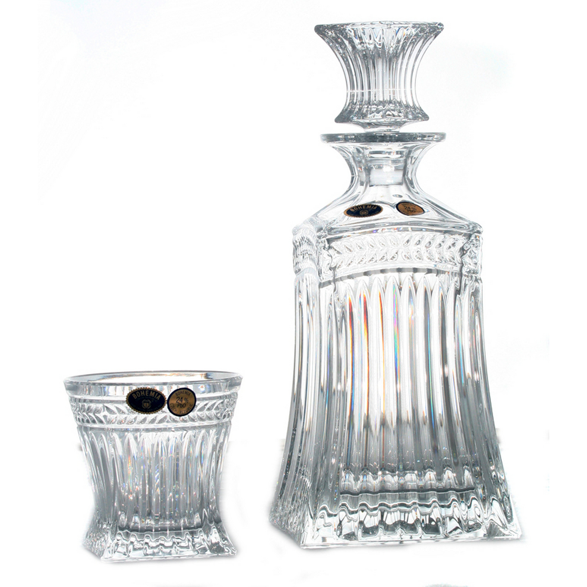 IMPERIAL Set 6 pahare si decantor cristal Bohemia whisky