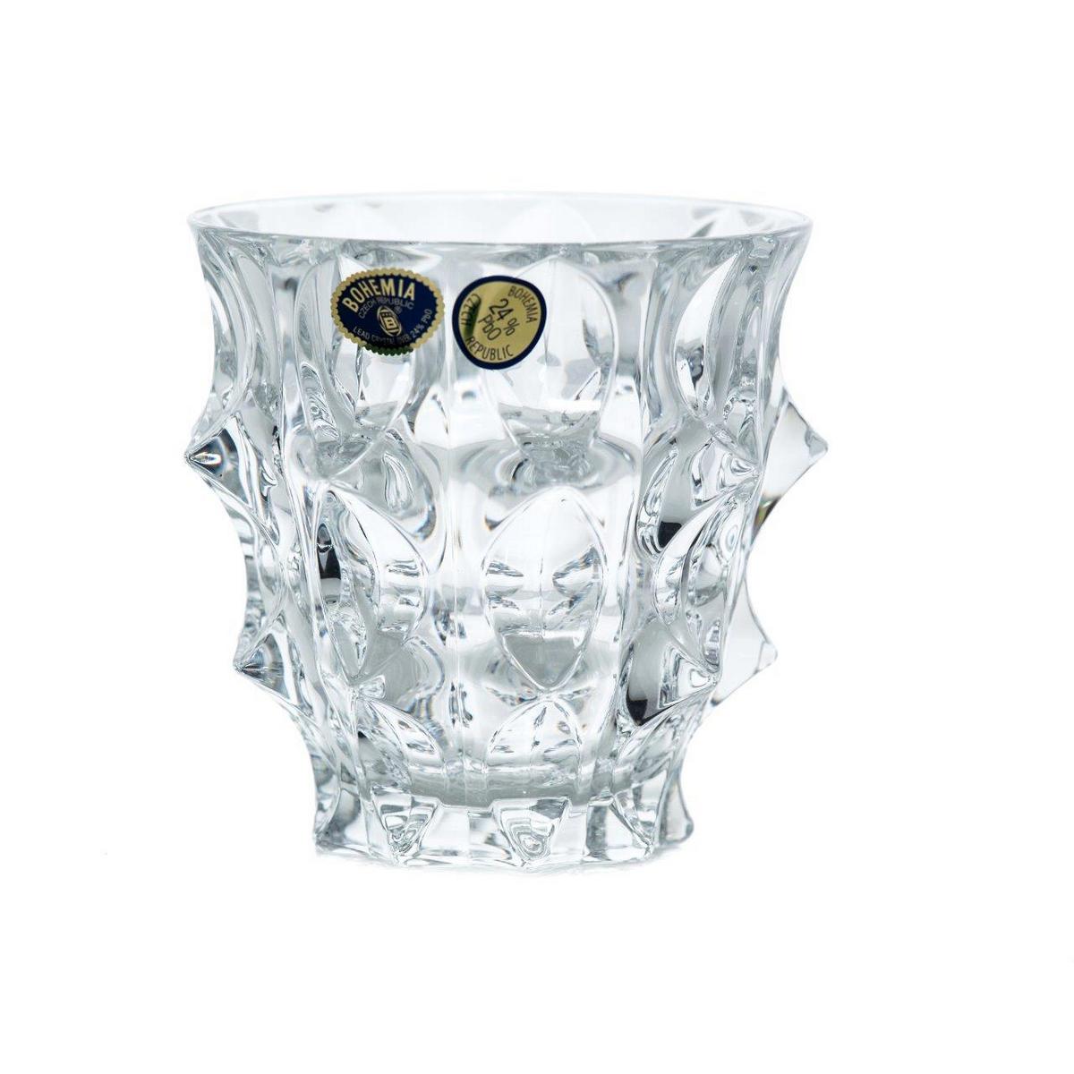 FORTUNE Set 6 pahare cristal Bohemia whisky 290 ml