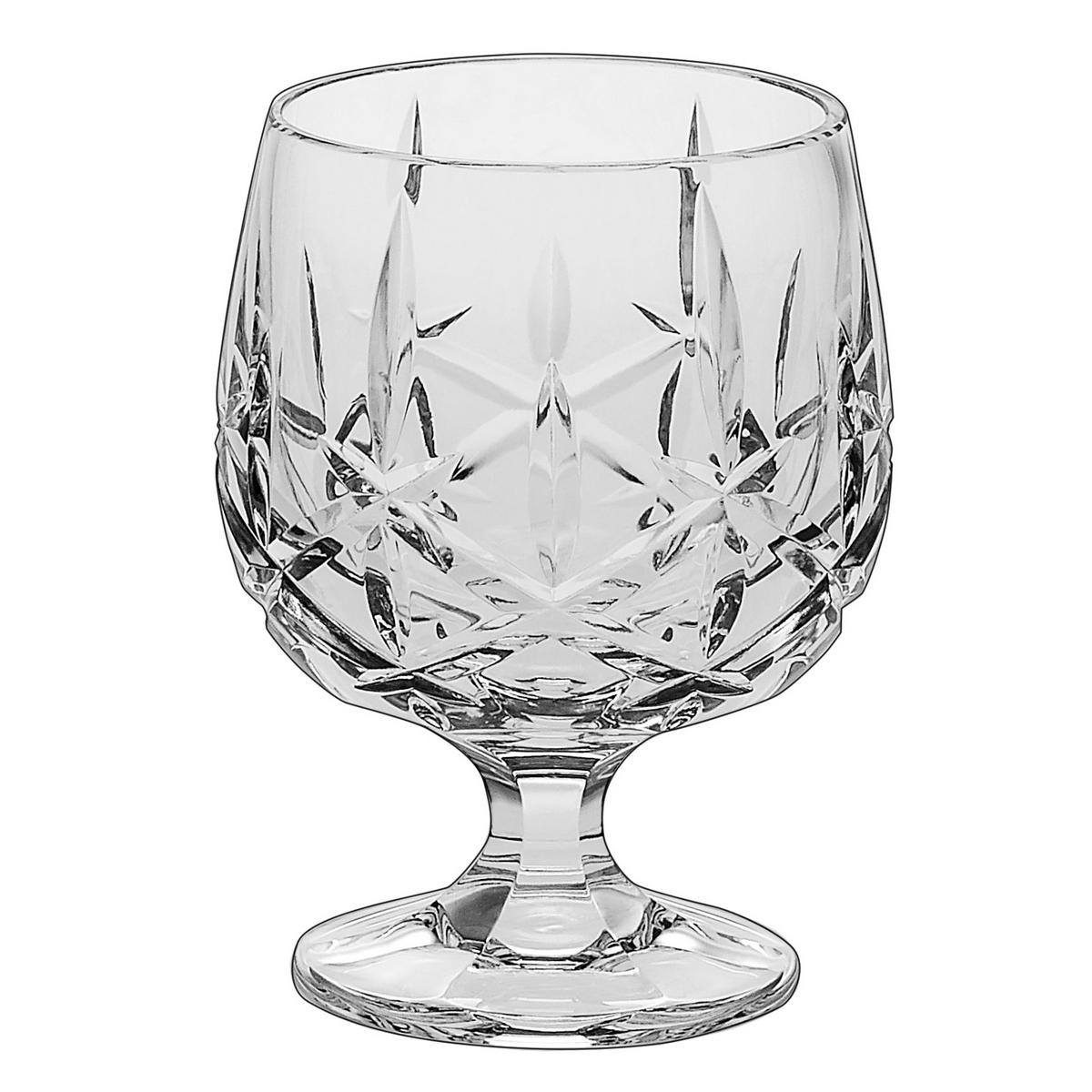 SHEFFIELD Set 6 pahare cristal Bohemia cognac 250 ml