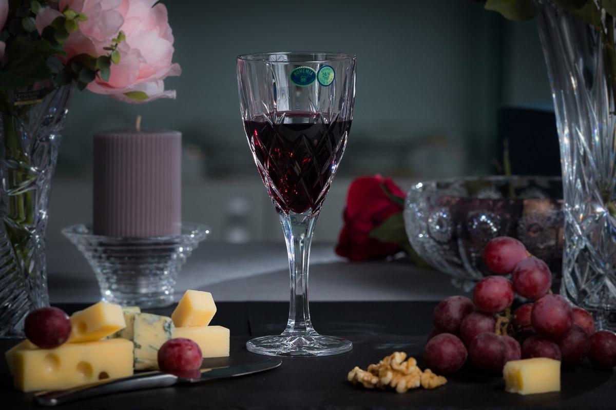 BRIXTON Set 6 pahare cristal Bohemia vin 320 ml