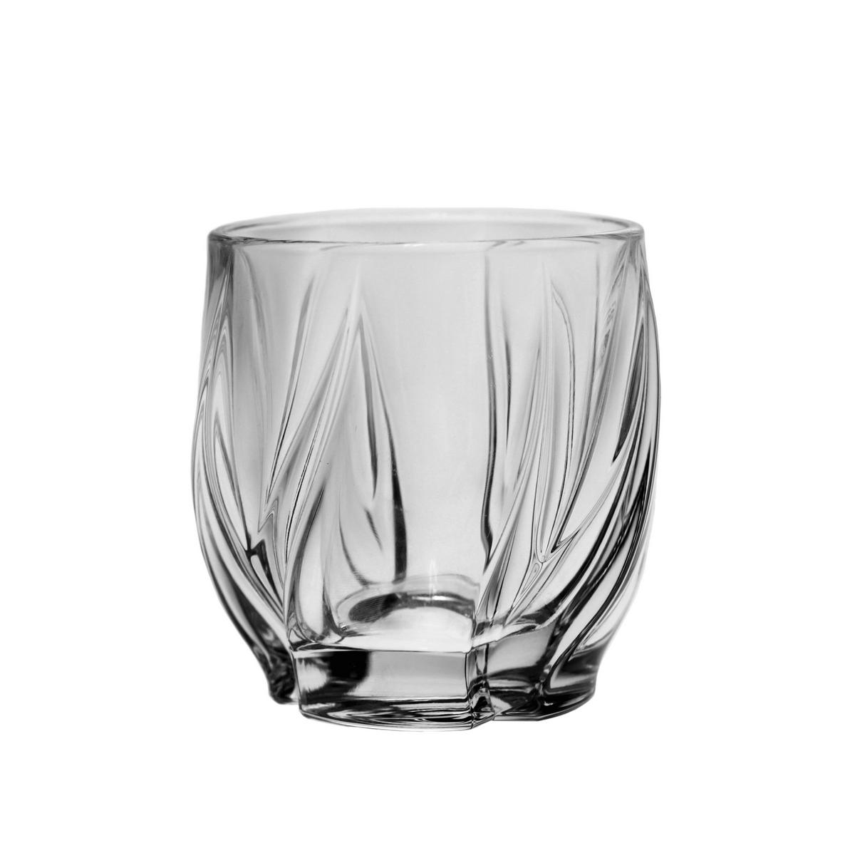 BROMELIAS Set 6 pahare cristal Bohemia whisky 350 ml
