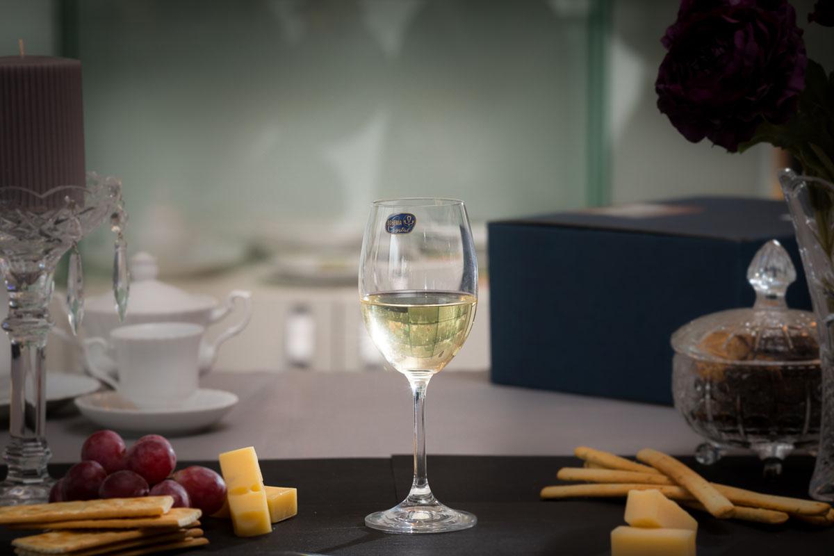 LARA Set 6 pahare cristalin vin alb 250 ml