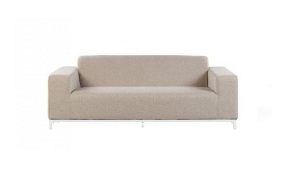 Canapea Rovigo, textil, bej, 186 x 68 x 84 cm