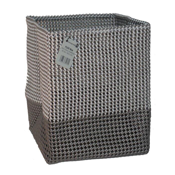Cos de rufe, plastic, gri/negru, 40 x 30 x 30 cm